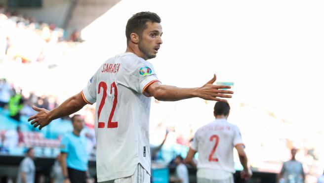 Pablo Sarabia, con la selección española