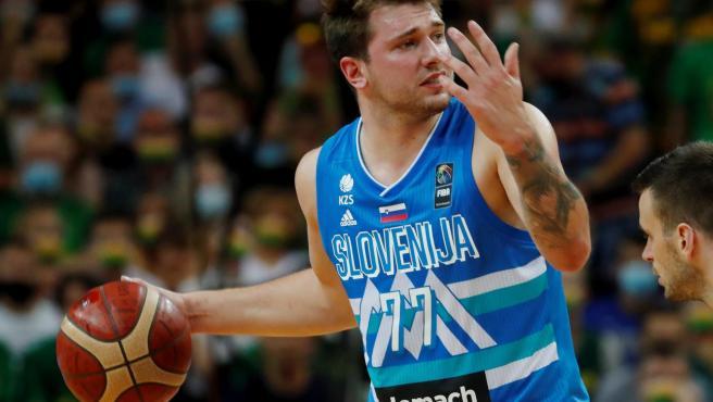 Doncic, con la selección eslovena.