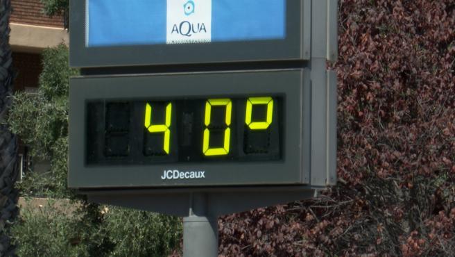 Ola de calor en València con temperaturas entre los 39 y 40 grados