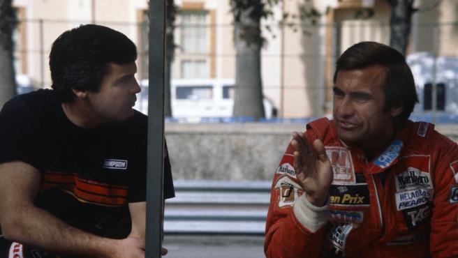 Carlos Reutemann (d) y Alan Jones, compañeros en el equipo Williams F1