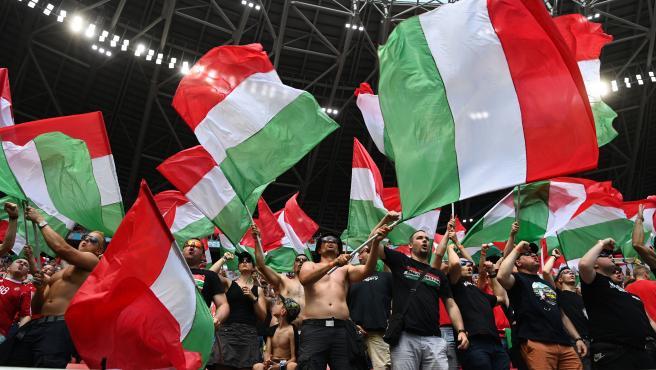 Aficionados de Hungría durante la Eurocopa