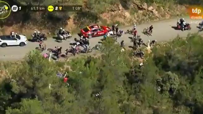 Caída en la 13ª etapa del Tour de Francia