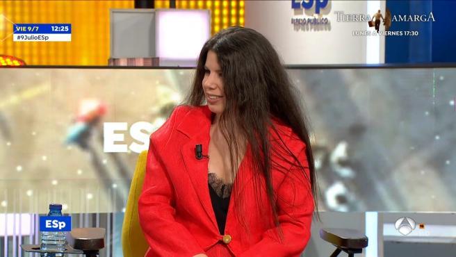 Carla Vigo, sobrina de la reina Letizia, en 'Espejo público'.