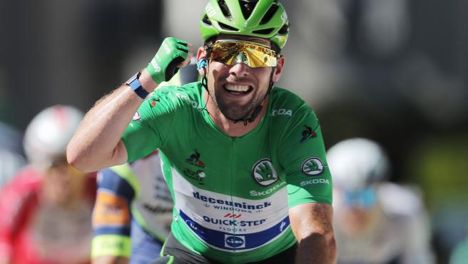 Mark Cavendish celebra su 34ª victoria de etapa en el Tour de Francia