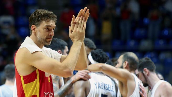 Pau Gasol, jugador de la selección española de baloncesto.