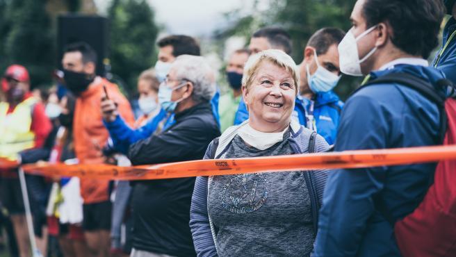 Catherine Poletti, en la meta de Vall D'Aran