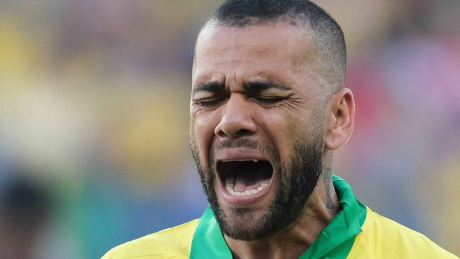 Dani Alves, jugador de la selección brasileña de fútbol.