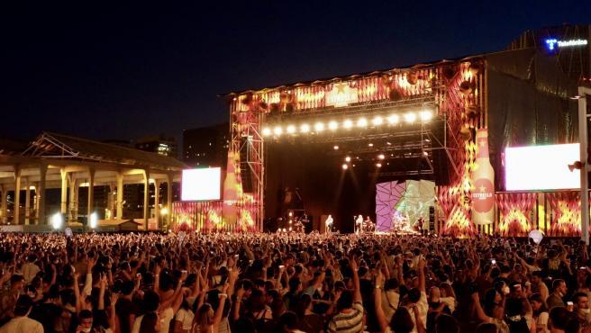 El Cruïlla da una nueva noche de conciertos con más de 18.100 personas sin distancia y con mascarilla