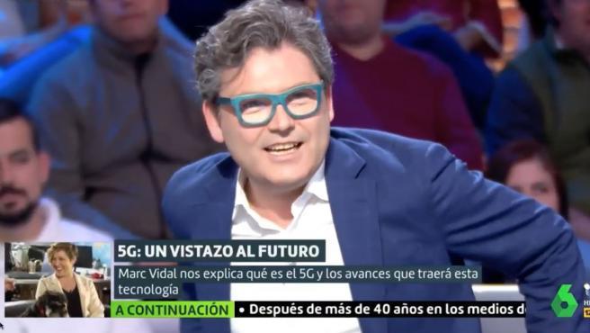 Marc Vidal durante uno de los programas de 'Liarla Pardo' en laSexta.