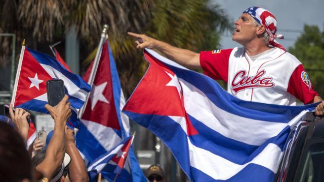 Protestas en EEUU en apoyo a Cuba.