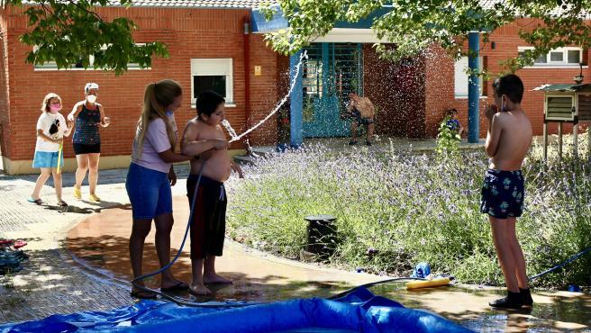 Campamento de verano en las instalaciones del colegio para niños con autismo Aucavi de Getafe.