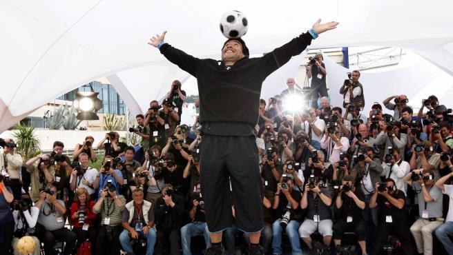 Diego Armando Maradona, en Cannes GTRES