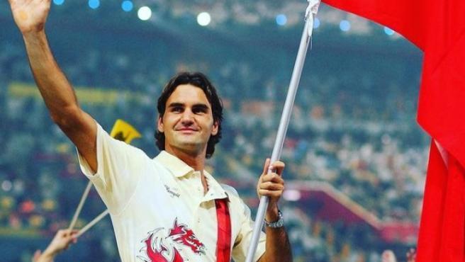 Federer, abanderado de Suiza