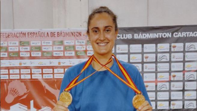 Clara Azurmendi, campeona de España de bádminton.