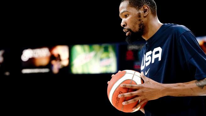 Kevin Durant, jugador de la selección de Estados Unidos.