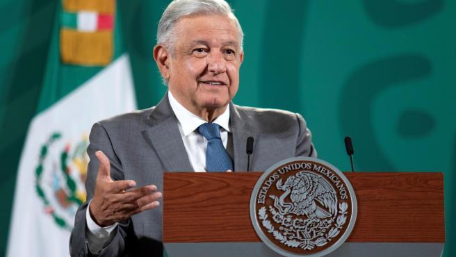 Andrés Manuel López Obrador en la rueda de prensa.
