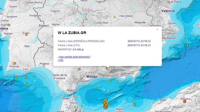 Terremoto en Granada.