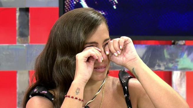 Anabel Pantoja llorando en 'Sálvame'.
