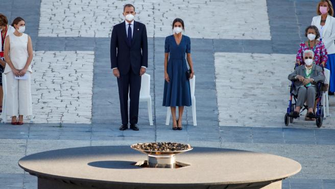 Los reyes Felipe y Letizia presiden el acto de homenaje de estado a las víctimas de la pandemia de la Covid-19, en el Palacio Real de Madrid.