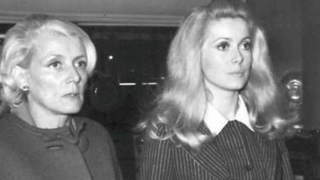 Renée Dorleac con Catherine Deneuve
