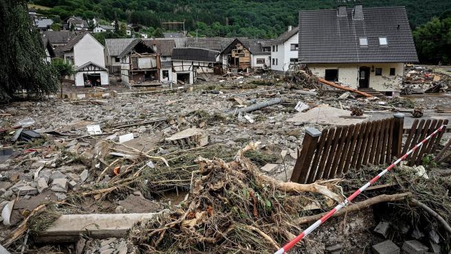 Daños por las inundaciones en Schuld, Alemania.