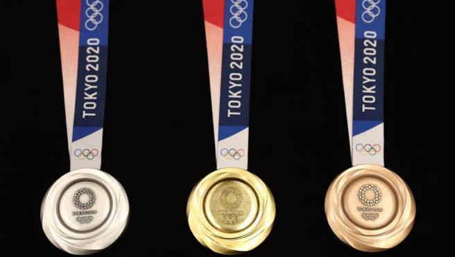 Las medallas de los Juegos Olímpicos de Tokio 2020.