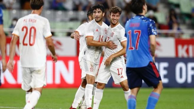 (Crónica) Pedri lidera la reacción de España en el último test ante Japón