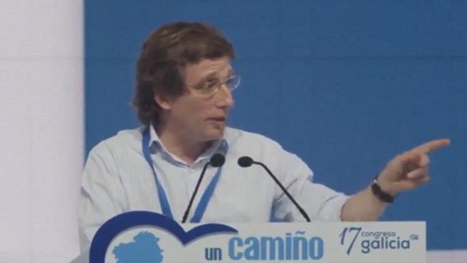 José Luis Martínez Almeida en el acto del PP en Galicia este sábado.