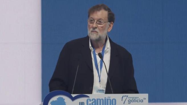 Mariano Rajoy en el acto del PP en Galicia este sábado.