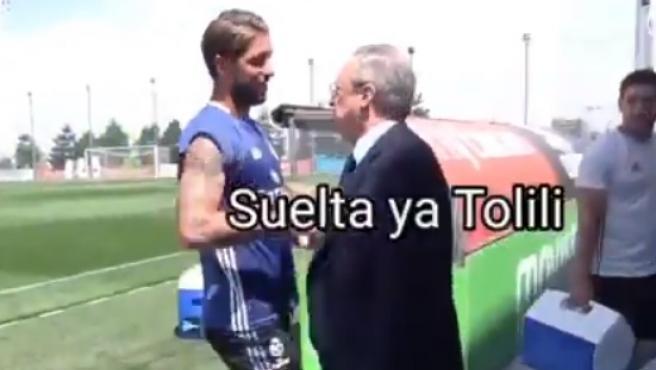 Detalle de uno de los video memes de los audios de Florentino.