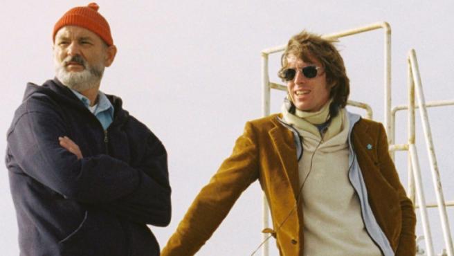 Bill Murray y Wes Anderson rodando 'Life Aquatic'