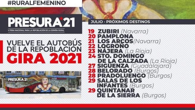 """El Autobús de la Repoblación recorre el Camino de Santiago para visibilizar una España rural """"pujante y emprededora"""""""