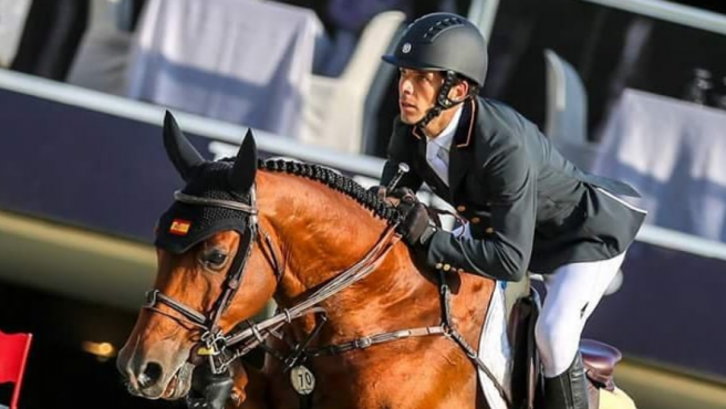 Eduardo Alvarez Aznar, el jinete que acudirá a los Juegos Olímpicos de Tokio.