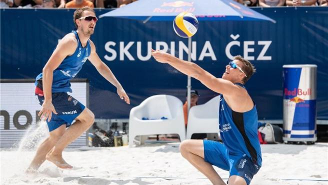 La pareja checa de voley playa de los Juegos Olímpicos de Tokio.