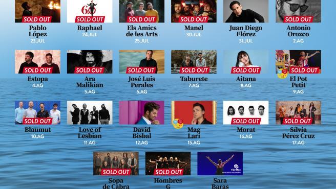 El Festival de Cap Roig (Girona) supera las 33.000 entradas vendidas