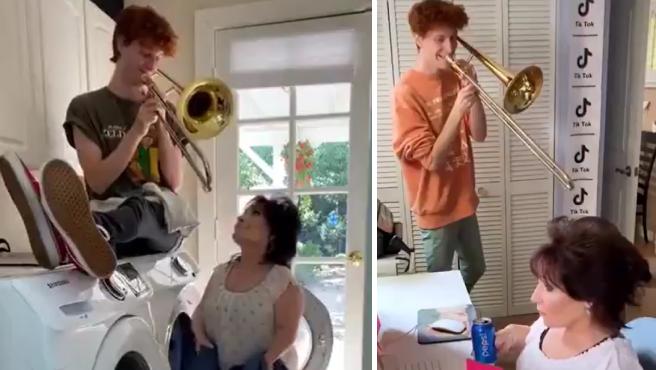 El 'youtuber' Peet Montzingo 'poniendo banda sonora' a la vida de su madre.