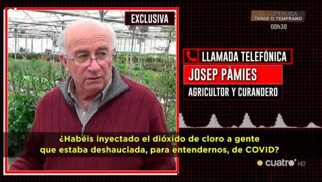 Josep Pàmies, el curandero que asegura que los enfermos de COVID-19 pueden curarse a sí mismos.