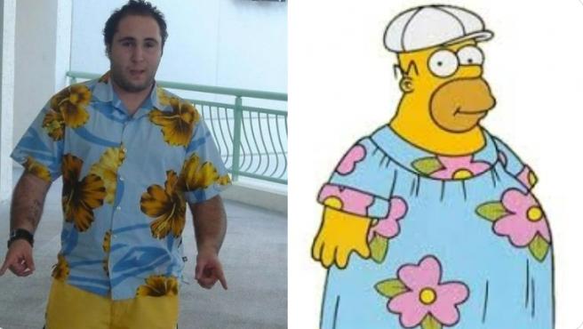 Kiko Rivera y Homer Simpson.