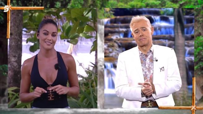Lara Álvarez y Jordi González, en 'Supervivientes'.
