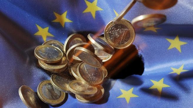 Monedas de euro en una foto de archivo.
