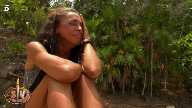 Olga Moreno rompe a llorar en 'Supervivientes 2021'.