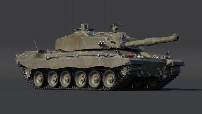 Recreación del tanque británico Challenger 2 en el juego 'War Thunder'.