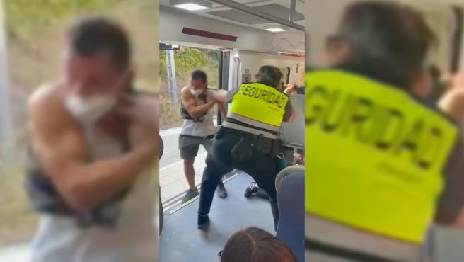 Un pasajero sin billete agrede a dos vigilantes de seguridad en la estación de Rodalies Renfe de Mollet, en Barcelona.