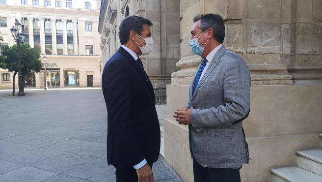 AMP.-Espadas y Pedro Fernández se reunirán con Marlaska para abordar el aumento de efectivos policiales