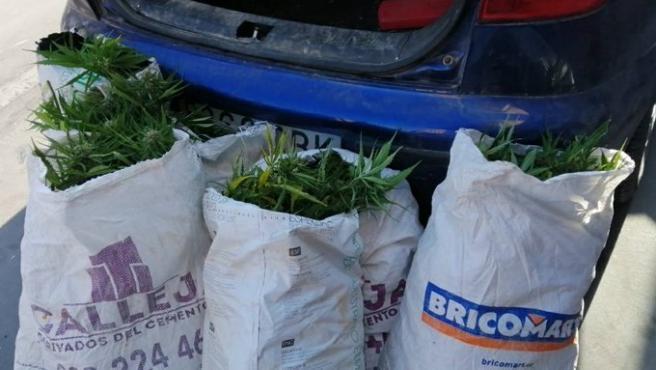 Detenido en Valladolid con 19,5 kilos de marihuana en su coche que se detectaron por el olor que desprendía