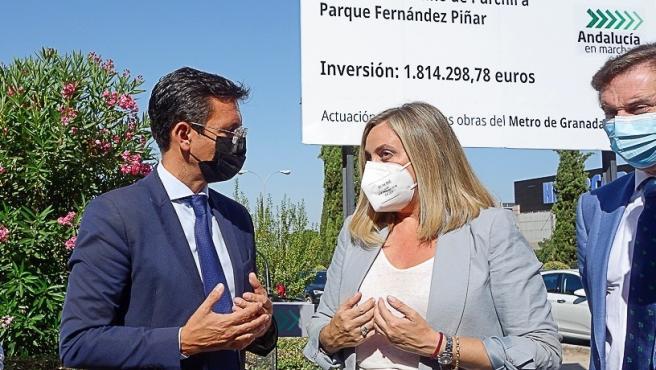 El alcalde se congratula del inicio de las obras en el eje Arabial-Palencia