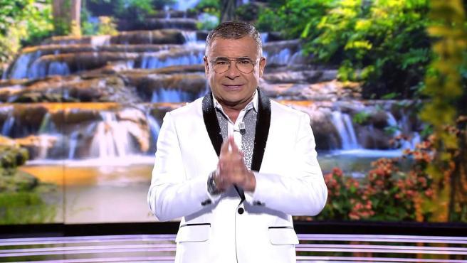 El presentador, Jorge Javier Vázquez, en directo en la gala de 'Supervivientes 2021'.