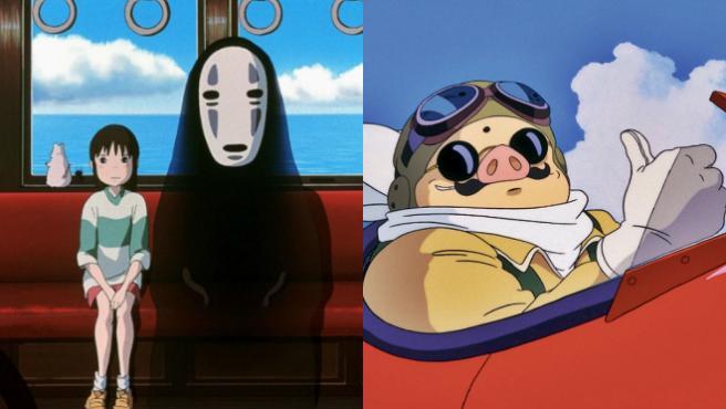 'El viaje de Chihiro' y 'Porco Rosso'