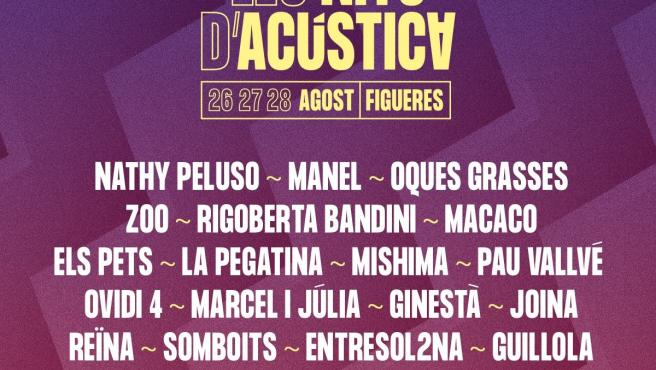 Les Nits D'Acústica tendrá a Nathy Peluso, Manel, Rigoberta Bandini y Oques Grasses