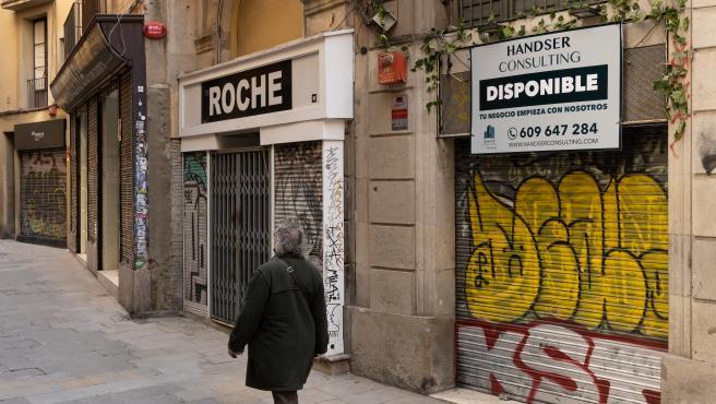 Locales en el distrito de Ciutat Vella de Barcelona.